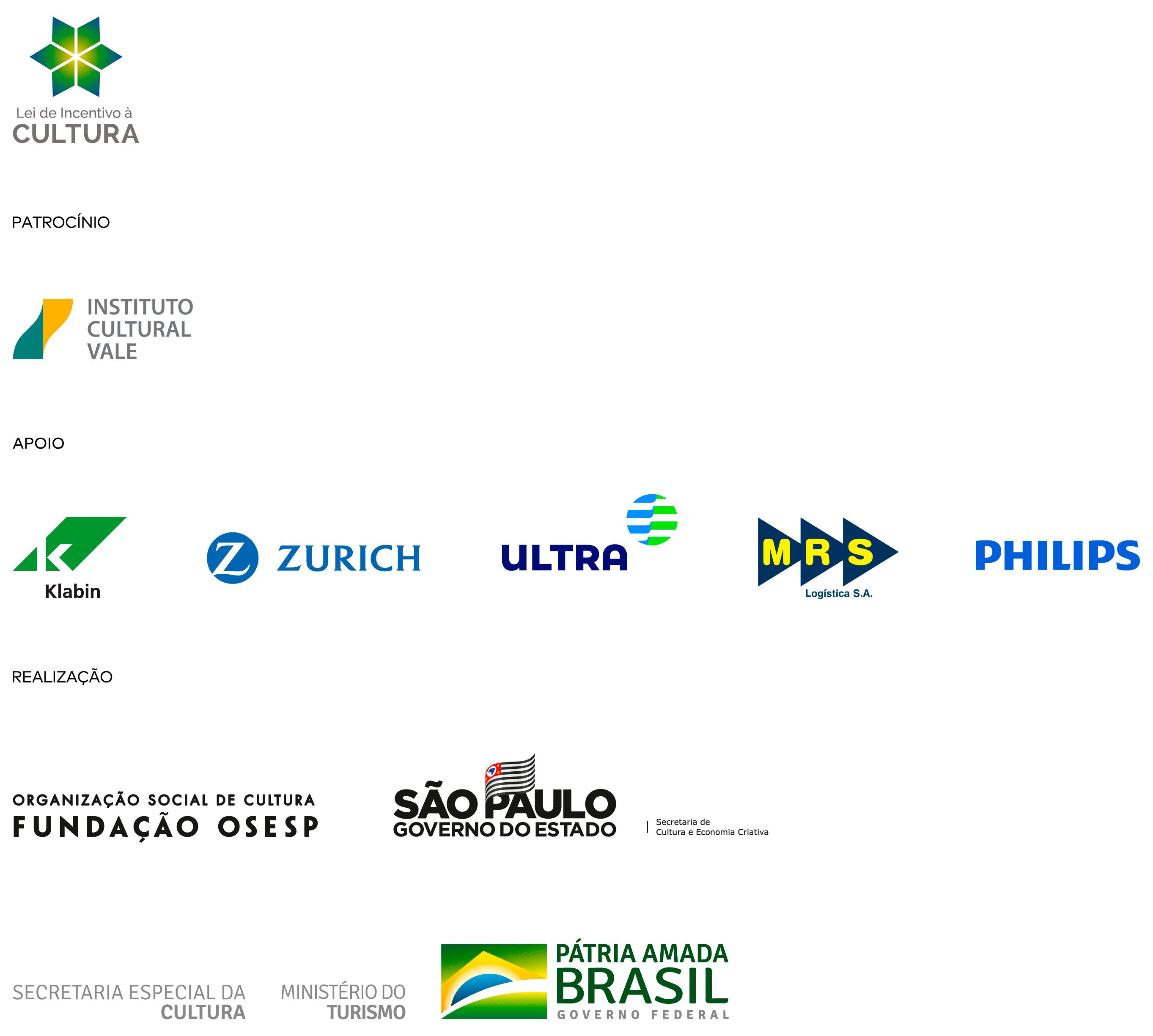 Régua de logos do Descubra a Orquestra